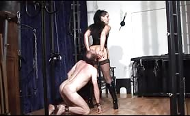 Mistress and her scat slave