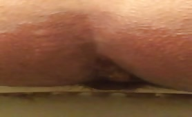 Amateur girl shitting in toilet