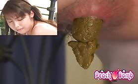 Japanese girl fucked after eating poop