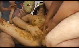 Brutal scat torture