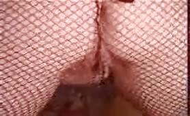 Mature woman shitting in black pantyhose