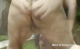 Scat orgy in backyard